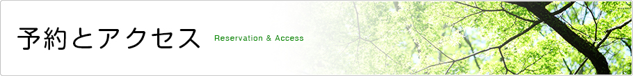 予約とアクセス